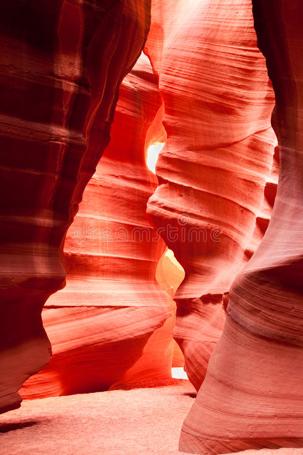 верхушка шлица каньона антилопы стоковое фото rf