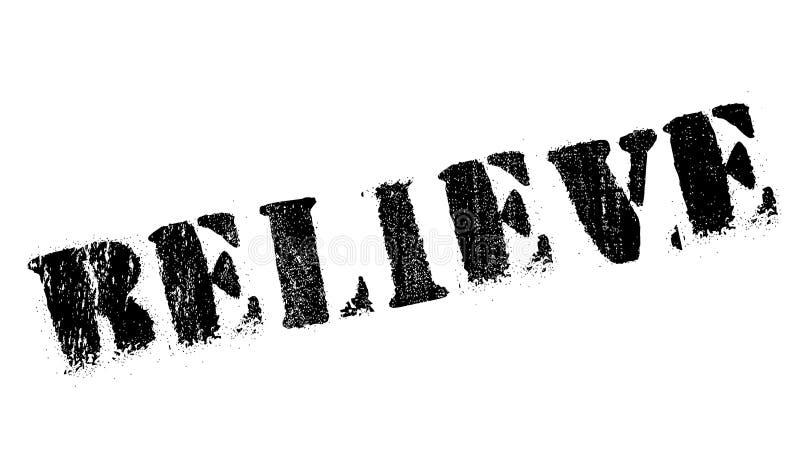 Верьте grunge резины штемпеля стоковое изображение
