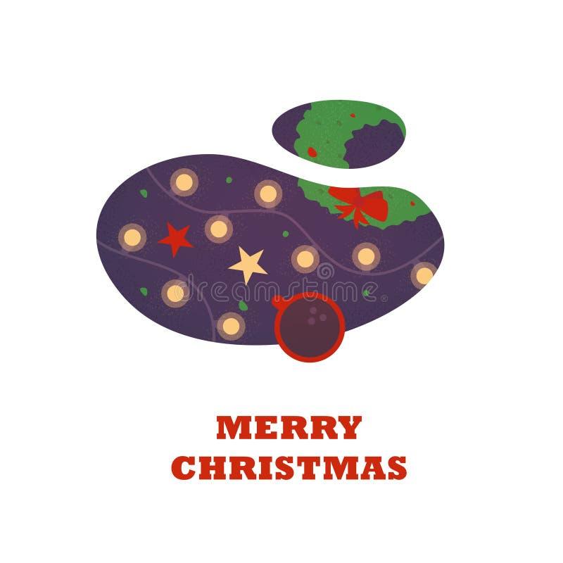 Веселое рождество, жидкий дизайн предпосылка иллюстрации праздника приветствию карты вектора бесплатная иллюстрация