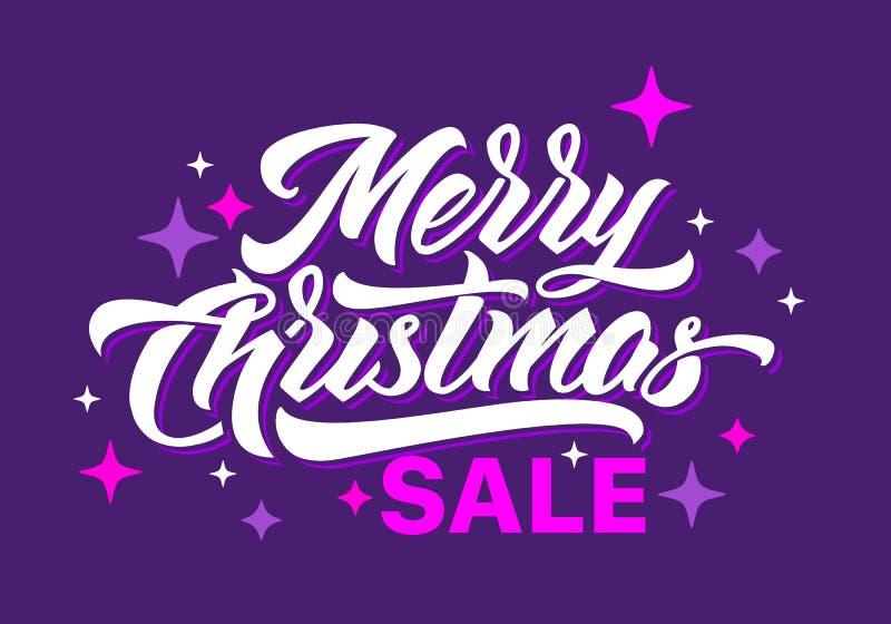 Веселое рождество Saler 2019 помечая буквами иллюстрация штока