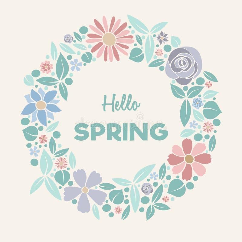 Весеннее время - пастель покрашенный плакат стоковое фото rf