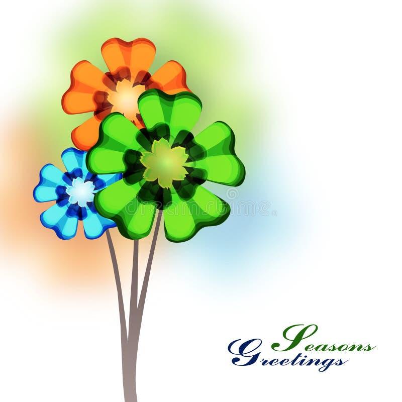 Цветки весеннего времени иллюстрация штока