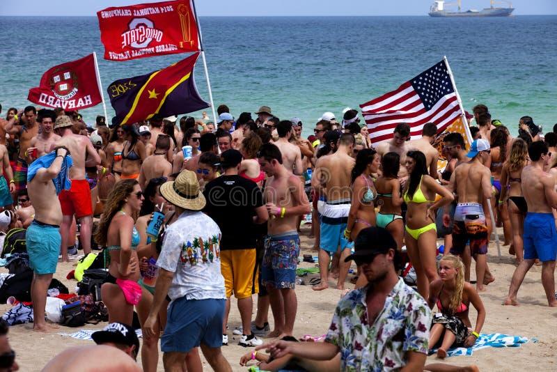 Весенние каникулы - Ft Lauderdale, Флорида стоковое фото