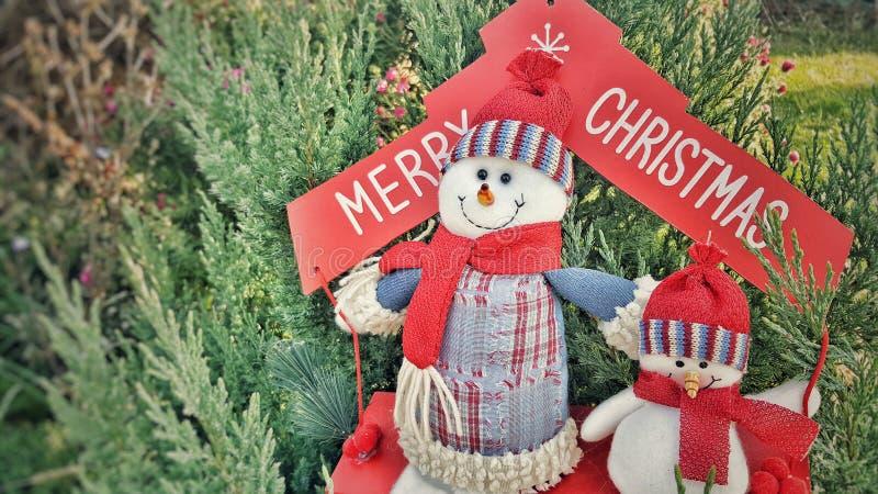 Веселая концепция праздника снеговиков Cristmas стоковое изображение rf