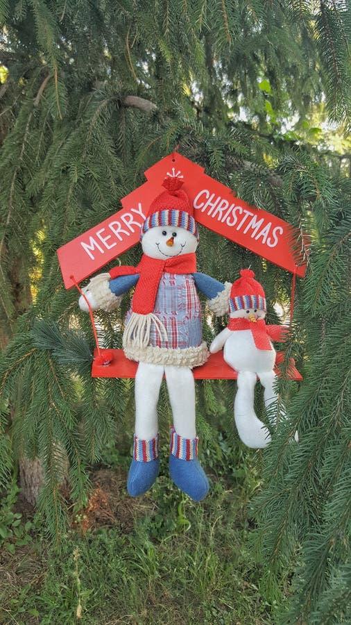 Веселая концепция праздника снеговиков Cristmas стоковое изображение