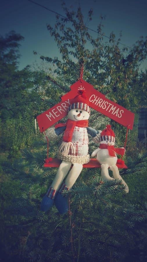 Веселая концепция праздника снеговиков Cristmas стоковая фотография