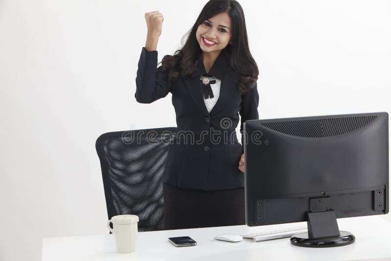 Веселить бизнес-леди стоковые фотографии rf