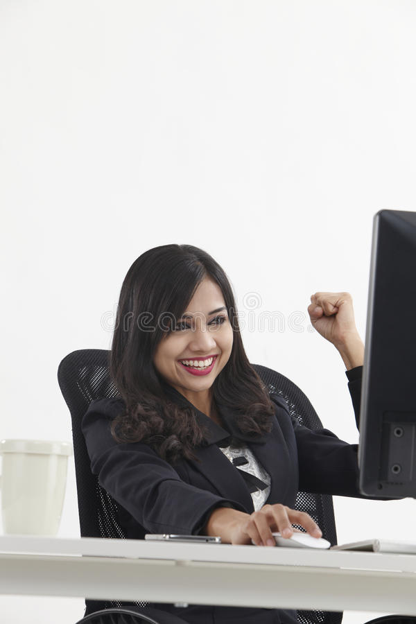 Веселить бизнес-леди стоковые изображения rf