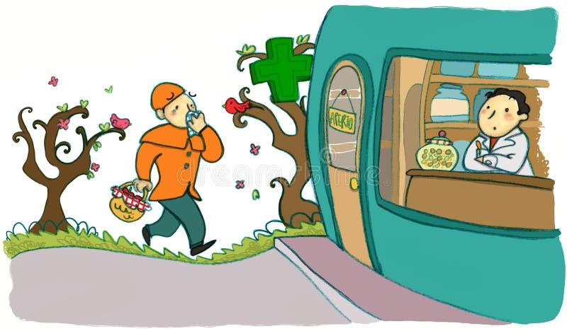 весна аллергии бесплатная иллюстрация