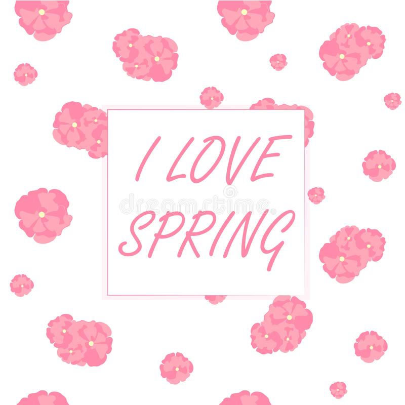 Весна влюбленности знамени i оформления Сакура цветет безшовная картина иллюстрация вектора
