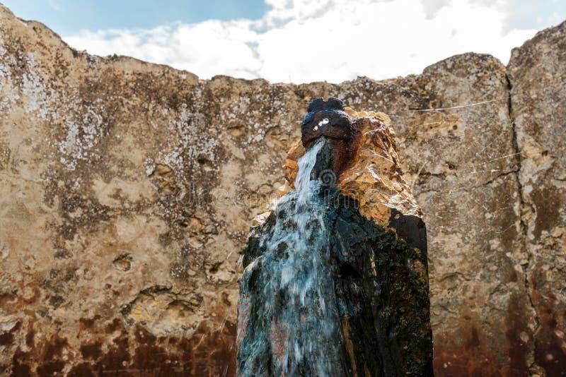 Весна воды серы стоковое фото rf