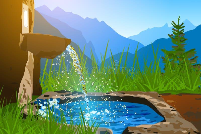 Весна воды иллюстрация штока