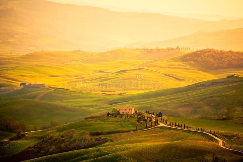 Весна в Тоскане стоковое изображение rf