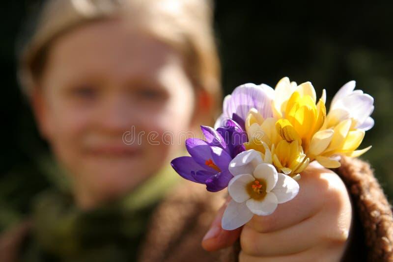 весна девушки стоковая фотография rf