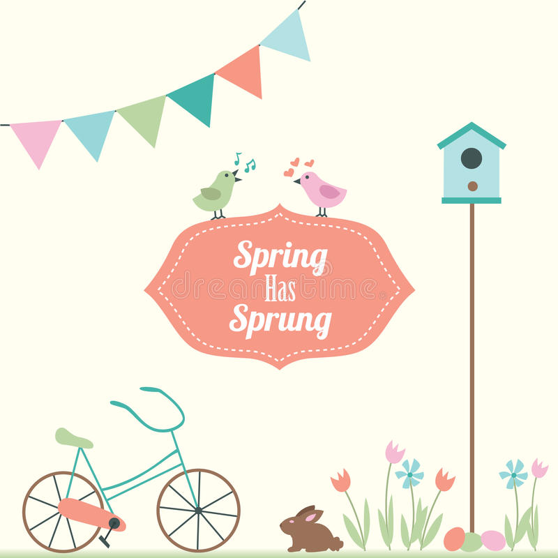 Весна имеет поскакенную иллюстрацию вектора иллюстрация вектора