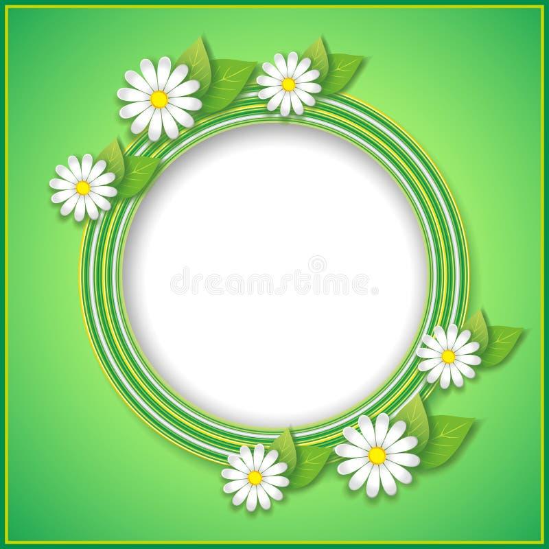 Весна или предпосылка лета с декоративным цветком иллюстрация штока