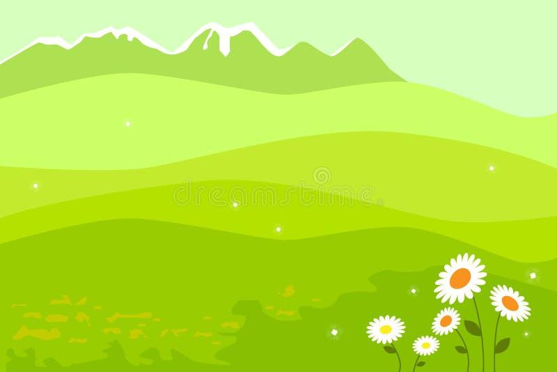 весна ландшафта иллюстрация вектора