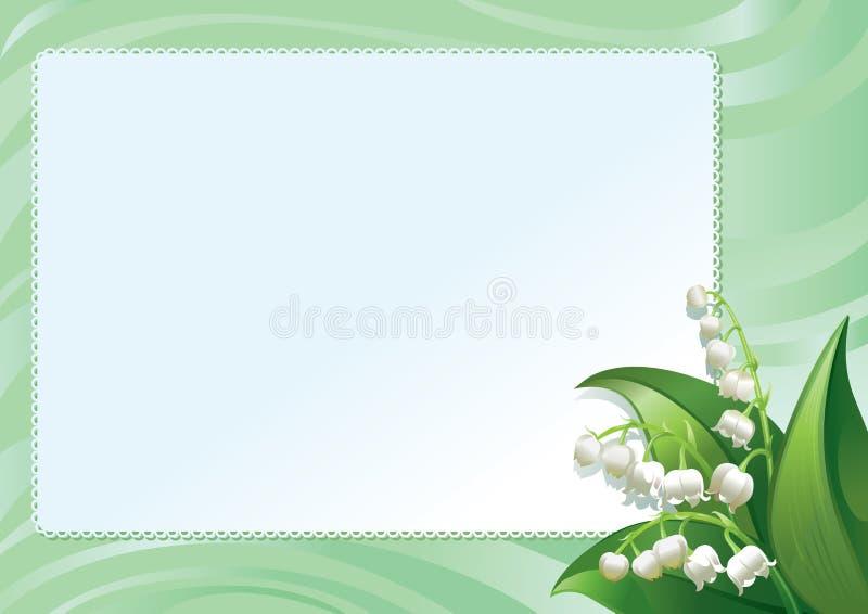 весна лилий рамки иллюстрация штока