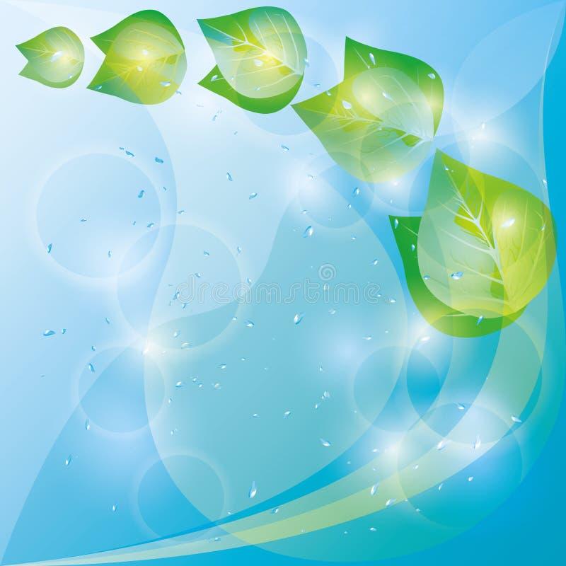 весна листьев eco предпосылки свежая зеленая бесплатная иллюстрация