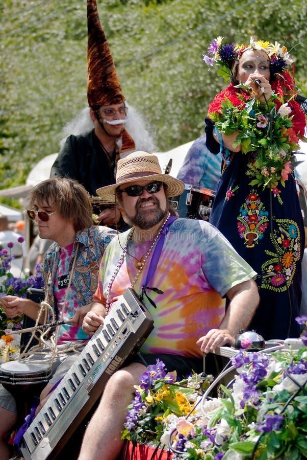 весна парка парада Georgia празднества atlanta inman стоковая фотография rf