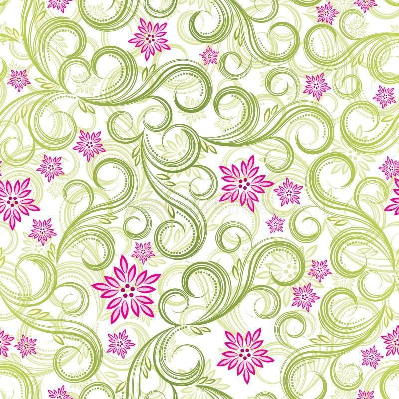 весна предпосылки флористическая безшовная иллюстрация вектора