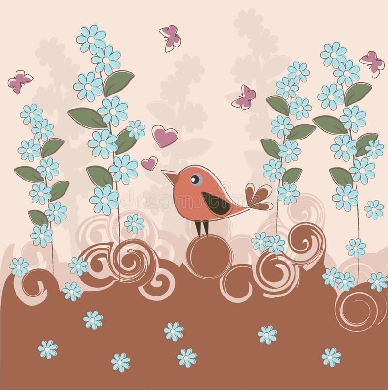 весна птицы иллюстрация вектора