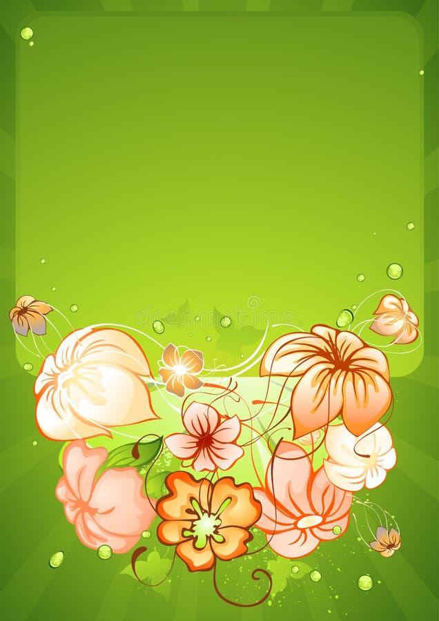 весна рамки цветков иллюстрация штока