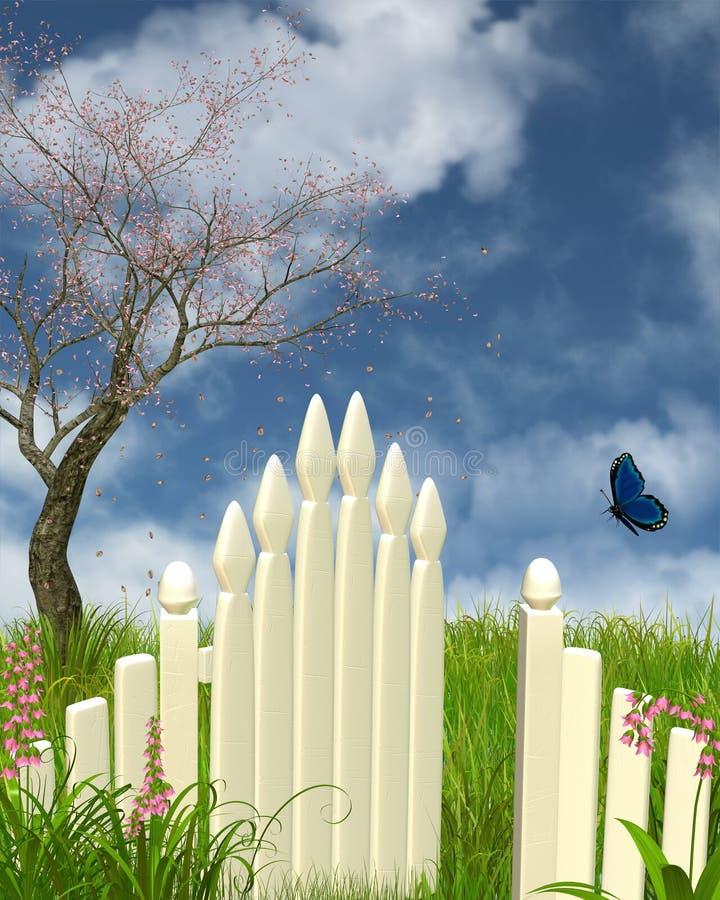 весна строба сада иллюстрация штока