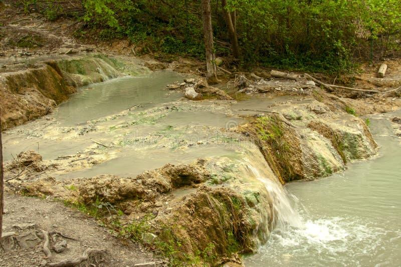 Весна термальной воды Bagni san Филиппо стоковое изображение rf