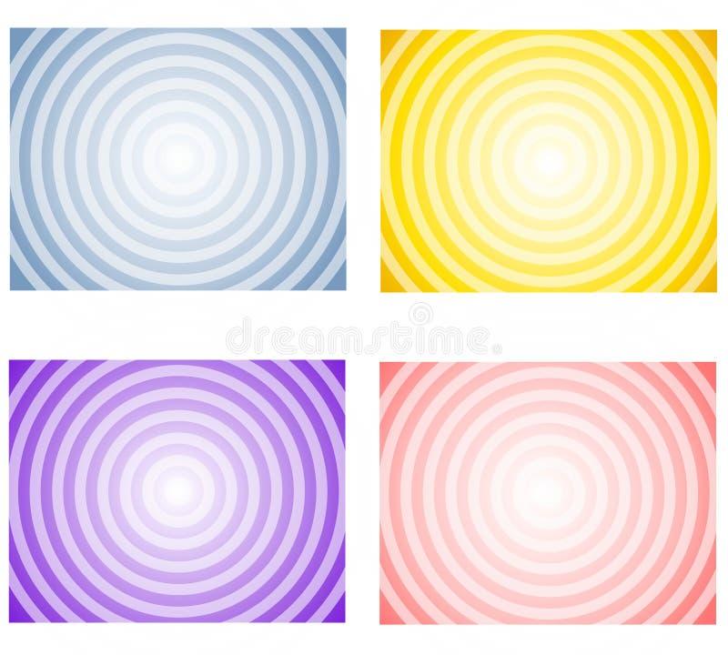 весна radial градиента предпосылок иллюстрация штока
