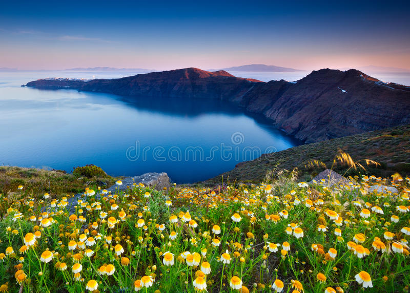 весна santorini стоковое фото rf