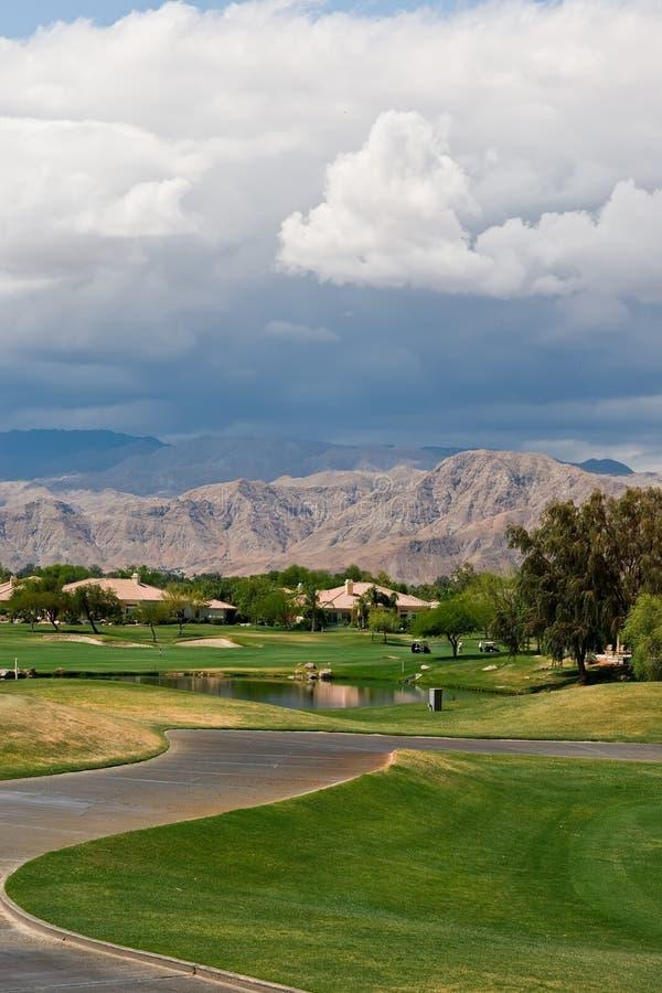 весны игрока ладони гольфа gary курса стоковое изображение rf