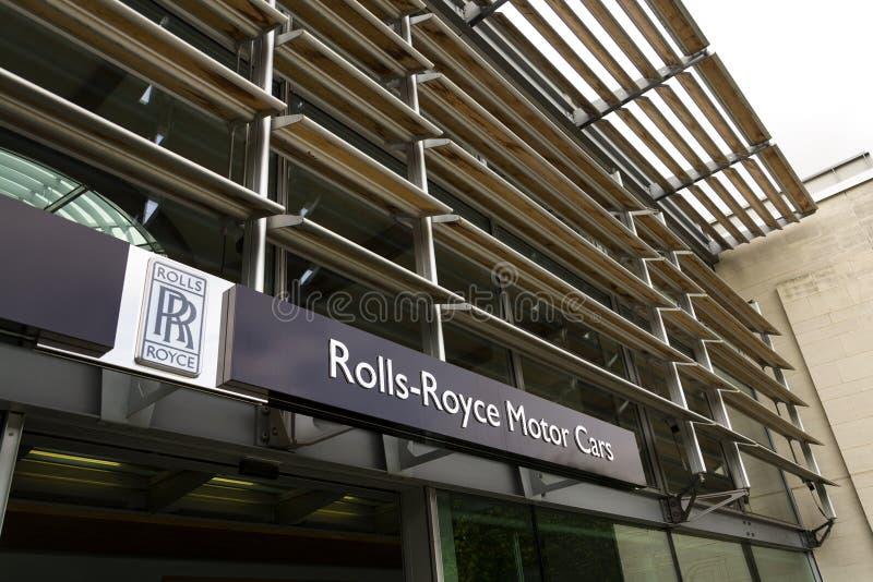 Вестибюль автомобилей Rolls Royce на фабрике автомобиля Goodwood стоковое фото rf