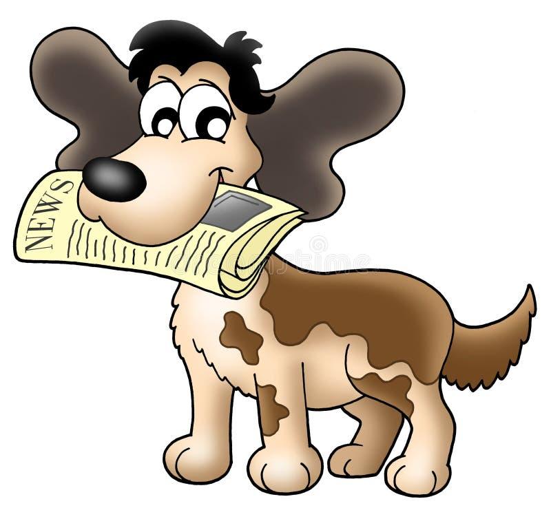 весточка собаки иллюстрация штока