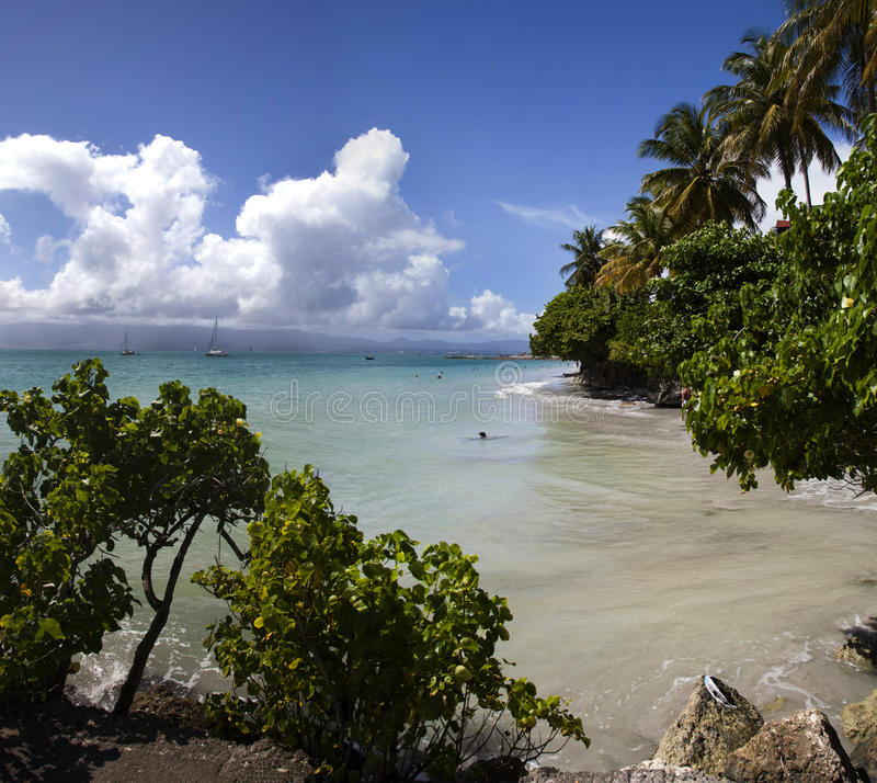 Вест-Инди, Гваделупа стоковая фотография rf