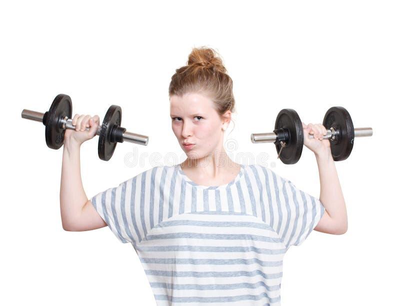 весы девушки стоковые фото