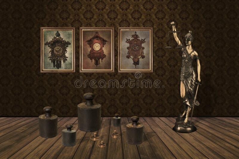 Весы стоя под изображениями иллюстрация штока