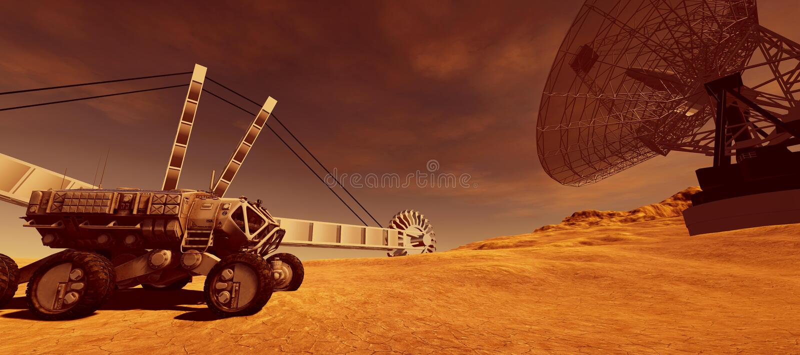 Весьма детальная и реалистическая высокая иллюстрация разрешения 3d колонии дальше повреждает как планета Элементы этого изображе бесплатная иллюстрация
