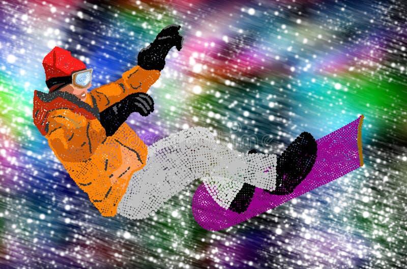Весьма сноубординг. иллюстрация вектора