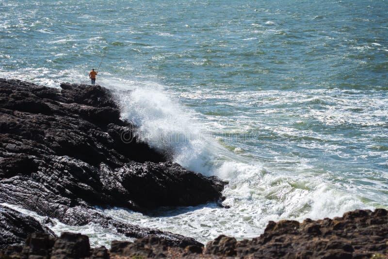Весьма удя Уругвай, пляж Punta del este стоковое фото