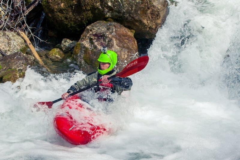 весьма kayaking стоковая фотография