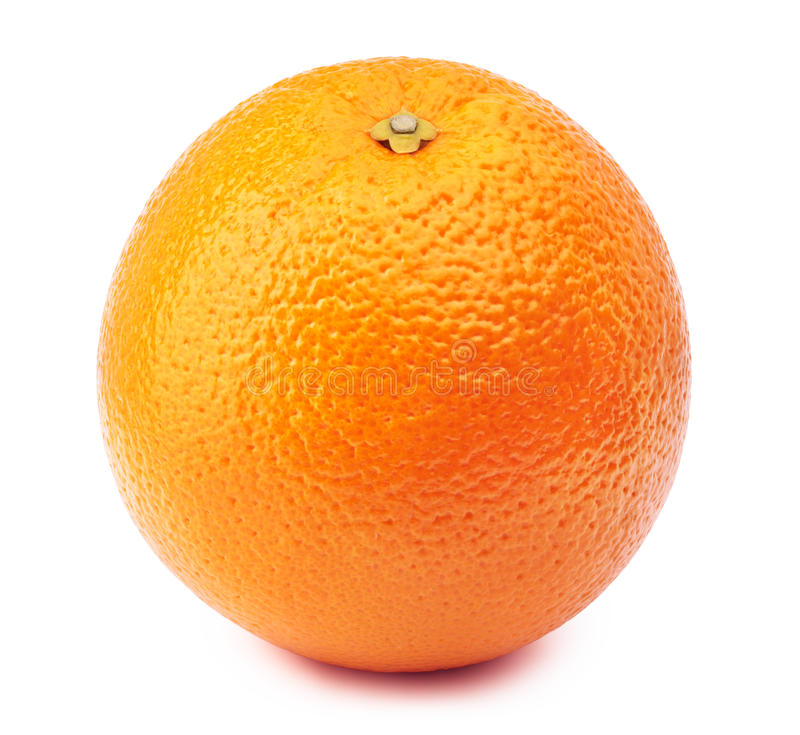Весь апельсин изолированный на белизне стоковое изображение rf