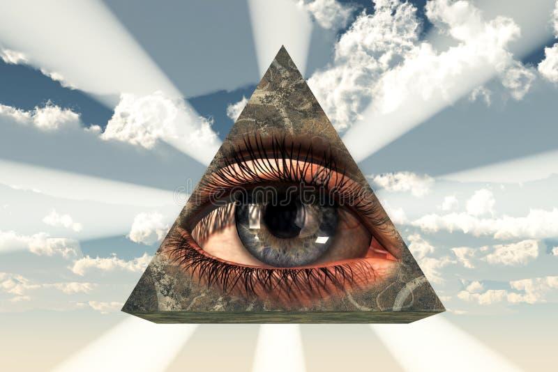 весь видеть глаза иллюстрация вектора
