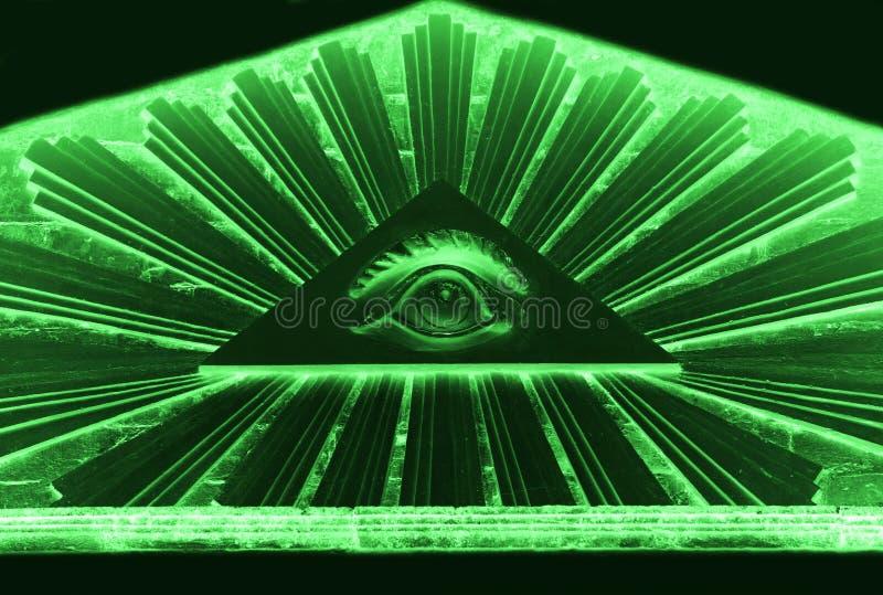 весь видеть глаза Masonic представление Osiris Церковь лютеранина в городке Gatchina, центре прихода стоковое фото rf
