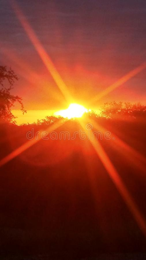 Весь видя восход солнца стоковое фото