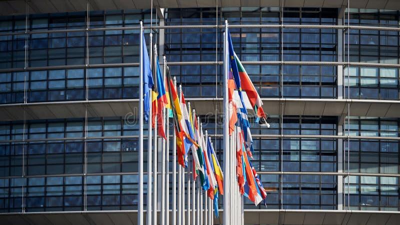 Весь страсбург Strasburg флагов Европейского союза стоковое фото