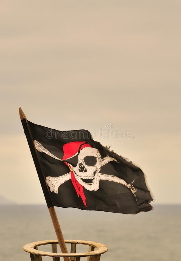 Весёлый флаг roger стоковые фотографии rf