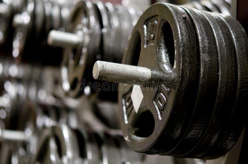 вес гимнастики гантели стоковая фотография