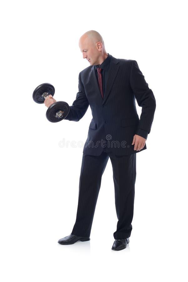 Вес костюма поднимаясь стоковые изображения