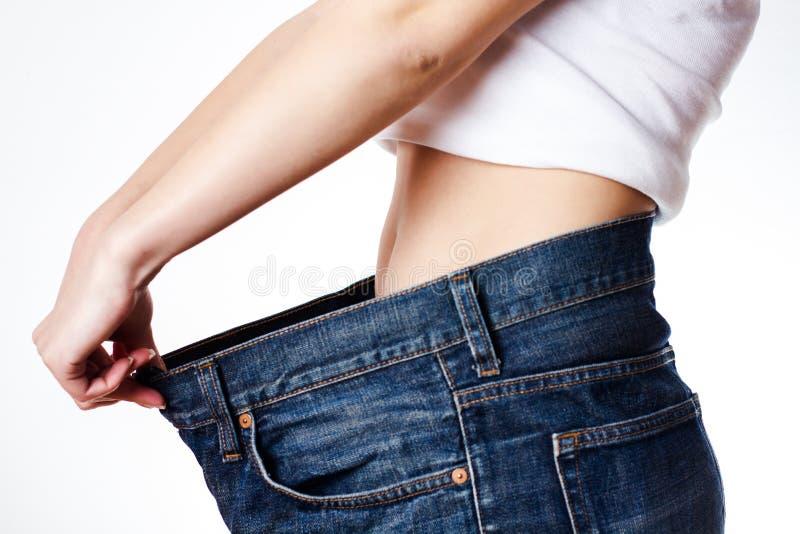 вес потери успешный стоковые фото